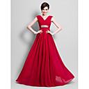 Lanting Bride® A-kroj Plus veličina / Niska građa Haljina za majku mladenke Do poda Bez rukava Šifon - Perlice / Drapirano sa strane