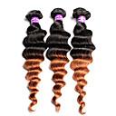 Tónované Malajské vlasy Volné vlny 12 měsíců 3 kusy Vazby na vlasy