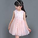 Dívka je Běžné/Denní Jednobarevné Léto Šaty Bavlna Růžová / Bílá