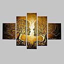 手描きの ファンタジー 任意の形状,クラシック 5枚 キャンバス ハング塗装油絵 For ホームデコレーション