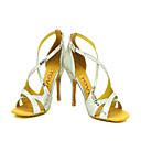 Može se prilagoditi - Ženske - Plesne cipele - Latin / Balska sala - Vještačka koža - Stiletto Heel - srebro
