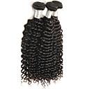 3個 カール 人間の髪織り インディアンヘア 100g 10''-30'' 人間の髪の拡張機能