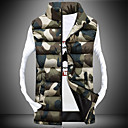 Pánské Polyester maskování Obyčejný S vycpávkou Kabát Bez rukávů