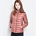 Manteau Rembourré Femme,Normal simple Habillées Couleur Pleine-Polyester Polyester Manches LonguesBleu / Rose / Rouge / Noir / Marron /