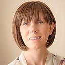 přírodní módní přímé lidské vlasy paruky pro ženy