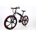 マウンテンバイク / 折りたたみ自転車 サイクリング 21スピード 26 inch/700CC 男性 SHIMANO TX30 ダブルディスクブレーキ スプリンガーフォーク リアサスペンション 普通 JINDIE® スチールレッド / 黄色 / 白 / グリーン /