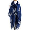 Žena Na běžné nošení Polyester Šátek,Obdélníkový Tisk Bílá / Modrá / Žlutá / Šedá