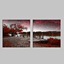 e-HOME® protáhl vedené na plátně umění řeka scenérie blesk efekt LED bliká optické vlákno tiskovou sadu 2