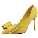 Žene Cipele na petu Jesen Udobne cipele Flis Ležerne prilike Stiletto potpetica MašnicaCrna / Žuta / Ružičasta / Crvena / Siva /