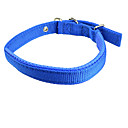 犬用品 カラー 調整可能/引き込み式 純色 レッド / ブルー ナイロン