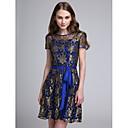 2017 Lanting bride® krátký / mini krajkové elegantní družička šaty - linky A šperk s lukem (y)
