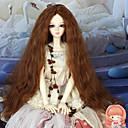 40 cm dlouhý Kinky kudrnaté středně kaštanové barvy na vlasy 1/3 1/4 BJD SD dz panenka paruka příslušenství, které není pro dospělého