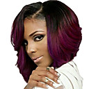 kratke valovita kosa crna i crvena u dvije nijanse boje sintetičkih perika za žene