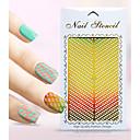 Nový nail art duté nálepky květ vousy vánoční strom geometrický obrázek designu nail art krása k091-094