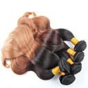 3個の実体波オンブル髪卸売ブラジル髪、無もつれ、無脱落とソフトブラジルオンブル髪