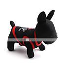 猫用品 / 犬用品 Tシャツ レッド / ブラック / ホワイト 犬用ウェア 春/秋 文字&番号