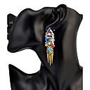 Žene Viseće naušnice TirkizOsnovni dizajn Jedinstven dizajn Stil višenja Geometrijski Prijateljstvo Afrika Kićankama SAD Moda Uglađeni