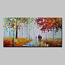 Ručně malované Krajina Horizontální,Abstraktní Moderní Jeden panel Plátno Hang-malované olejomalba For Home dekorace