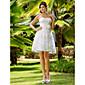 Lanting Bride® A-kroj / Princeza Sitna / Veći brojevi Vjenčanica - Šik i moderno / Glamurozno i izražajno / Za prijem Do koljenaSrcoliki