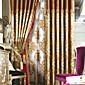 Europski neoklasicistički dvije ploče cvjetnim botanički smeđe spavaća posteljine mješavine pamuka panel zavjese zavjese