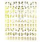 108pcs smíšené květinový vzor zlatý kov Nail Art samolepky