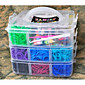 4800pcs Assorted Color DIY Rainbow Color Loom Style Silicone Band Elastic Woven Bracelets 4800pcs Bands ,1Box