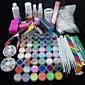 90PCS Glitter UV Gel Cleanser Primer Nail Art Kit Set