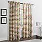 twopages® dva panely moderní multi barevné minimalistické kruhy záclony závěsy