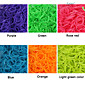 baoguang®600pcs rainbow color tkalcovský stav fluorescenční móda tkalcovský stav gumičku (1package s klip, různé barvy)