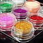 12ks smíšené barevné glitter prášek nail art dekorace