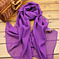 Fashion Shawls Shawls/Scarves Chiffon Candy Pink/Purple(More Colors)