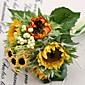 """Cvijeće za vjenčanje Krug Buketi Vjenčanje Bijela Saten / Svila 4.72 """"(Approx.12cm)"""
