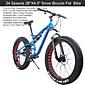 """24 Geschwindigkeiten 26 """"x17"""" x4.0 """"Fat Tire Bike Schnee gk ™ Fett bicicleta Berg bike26 Federgabel Aluminium Rahmen"""