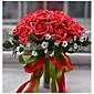 ウェディングブーケ ラウンド型 バラ ブーケ 結婚式 ポリエステル サテン フォーム 11.8inch(約30cm)
