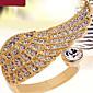 Široké prsteny Slitina Zirkon imitace Diamond Křídla / Peří Módní Barva obrazovky Šperky Párty 1ks