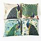 Paun dekorativna jastučnicu (17 * 17 inča)