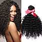 EVET Malaysian Kinky Curly Virgin Hair 3 Bundles Human Hair Natural Color Malaysian Curly Virgin Human Hair Weaves