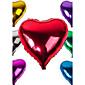 """18 """"10個入り/セット混合ランダムな色バルーンアルミ板フィルム愛/ハート型の風船結婚式の装飾バルーン"""