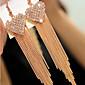 幸福 恋 ファッション 高級ジュエリー 模造ダイヤモンド ハート ゴールデン スクリーンカラー ジュエリー のために