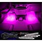 punjenje auto dekorativne atmosfera svjetiljka LED unutarnja kat ukras svjetlo s mini prekidač za kratka svjetla na čelu jednog 4pcs boji