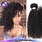 """1ks / lot 12 """"-24"""" brazilský panna vlasy přírodní černá výstřední kudrnaté syrové lidské vlasy spřádá prodej"""