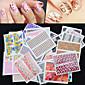 30ks zahraniční hot manikúru samolepky velkoobchodní nehty samolepky nálepky manikúra vodoznaku sadu 30 smíšených