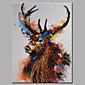 手描きの 動物 横長,Modern 1枚 キャンバス ハング塗装油絵 For ホームデコレーション