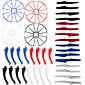 4color / 48 Syma x5s / x5sw / x5sc rezervni dijelovi postaviti 16 podvozje + 16 oštrica propelera + 16 zaštitili prsten za rc quadcopter