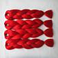 Stříbrná Box prýmky Jumbo Prodloužení vlasů 24inch Kanekalon 3 Pramen 80-100g/pcs gram vlasy copánky