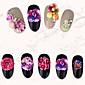 20ks různých stylů kvetoucí květiny pryskyřice nehtů ozdoby