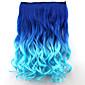 popularni novi stil dvostruko boja kovrčava sintetičke kose proširenje