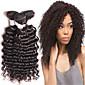 4bundles estensioni 8-26inch brasiliano profondo dei capelli dell'onda, vero e proprio capelli umani di Remy tessuto vergine, capelli neri