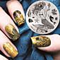 2016 nejnovější verze módní vzor mořská panna nail art lisování image šablony desky