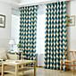 Dvije zavjese Prozor Liječenje Neoclassical Mediterranean Europska Zemlja Moderna , Dungi Living Room Polyester MaterijalBlackout Zavjese